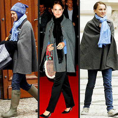 Natalie Portman, a fashion icon, is seen here wearing the jacket casually